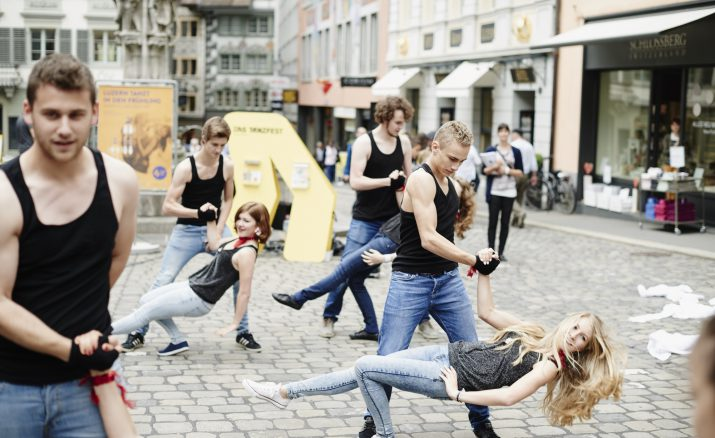Tanzparcours in der Stadt Luzern