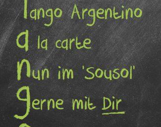 Tango à la carte (Tango argentino)
