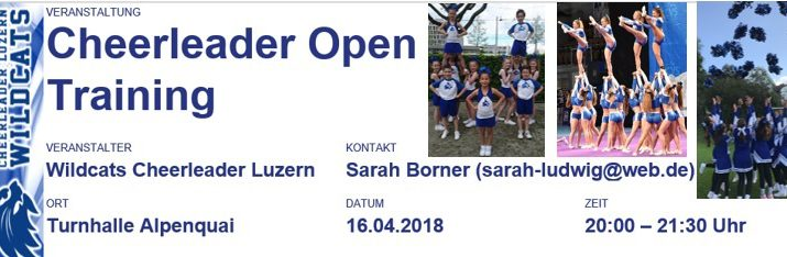 Cheerleader Open Training